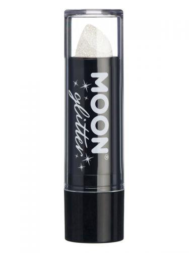 Moon Glitter Iridescent Glitter Lipstick, White