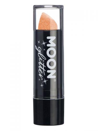 Moon Glitter Iridescent Glitter Lipstick, Orange