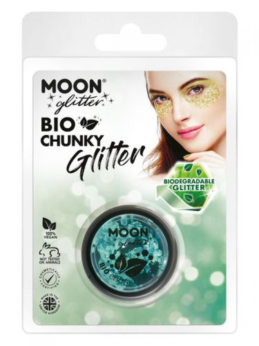 Moon Glitter Bio Chunky Glitter, Turquoise