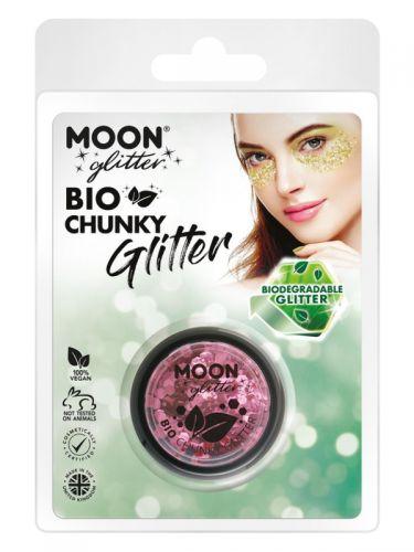 Moon Glitter Bio Chunky Glitter, Pink