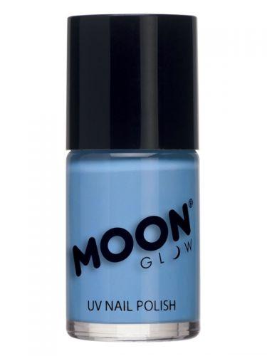 Moon Glow Pastel Neon UV Nail Polish, Pastel Blue