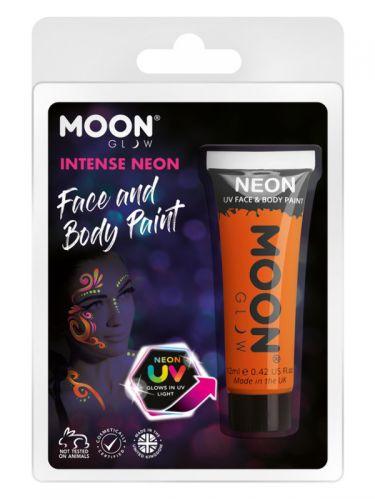 Moon Glow Intense Neon UV Face Paint, Orange