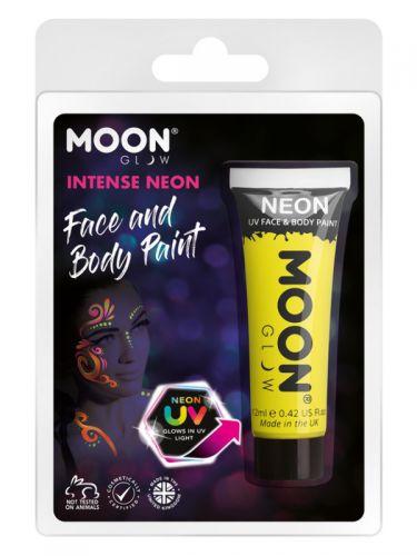 Moon Glow Intense Neon UV Face Paint, Yellow