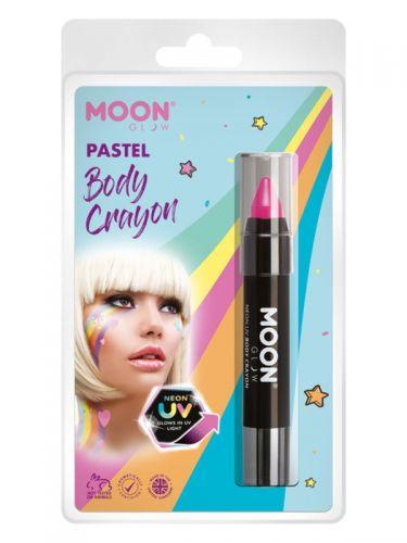 Moon Glow Pastel Neon UV Body Crayons, Pastel Pink