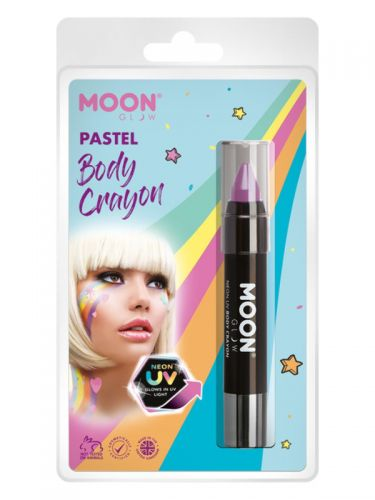 Moon Glow Pastel Neon UV Body Crayons, Lilac