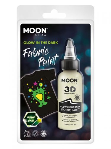 Moon Glow - Glow in the Dark Fabric Paint, Clear