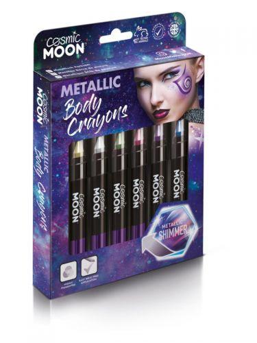 Cosmic Moon Metallic Body Crayons, Assorted