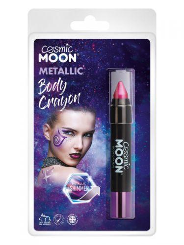 Cosmic Moon Metallic Body Crayons, Pink