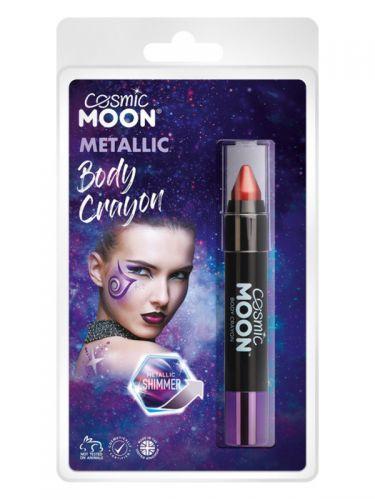 Cosmic Moon Metallic Body Crayons, Red