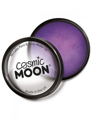 Cosmic Moon Metallic Pro Face Paint Cake Pots, Pur