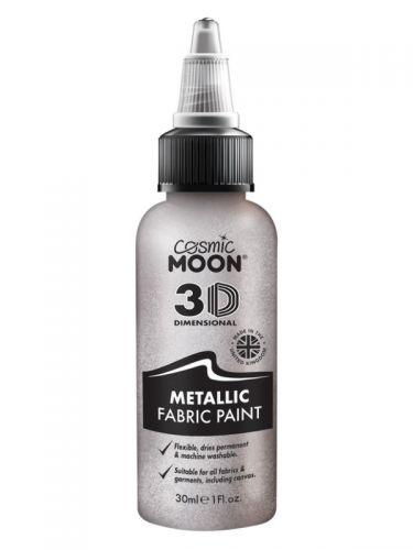 Cosmic Moon Metallic Fabric Paint, Silver