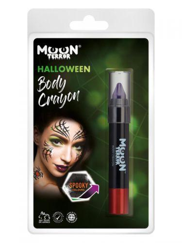 Moon Terror Halloween Body Crayons, Purple