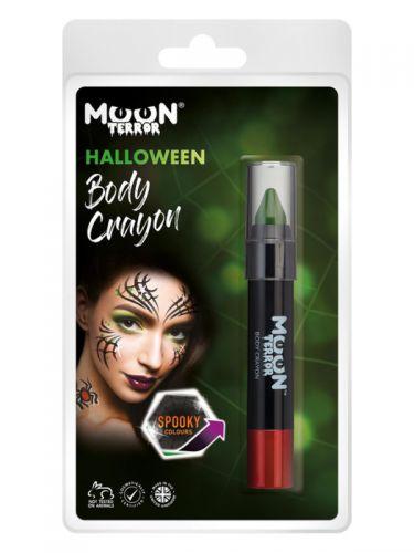 Moon Terror Halloween Body Crayons, Green