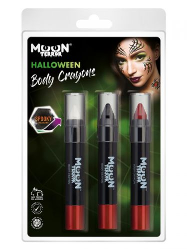 Moon Terror Halloween Body Crayons,