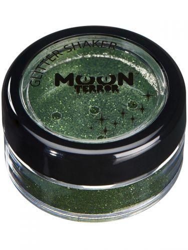 Moon Terror Halloween Glitter Shakers, Green