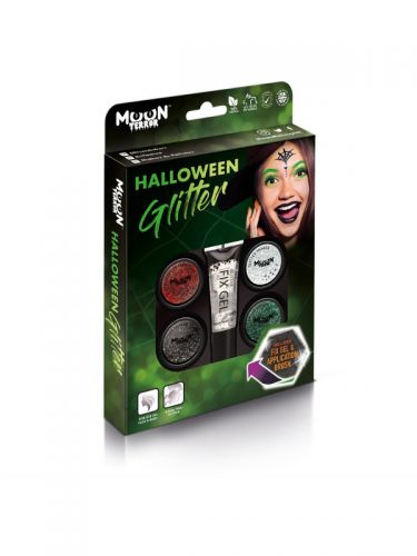 Moon Terror Halloween Glitter Shakers, Assorted