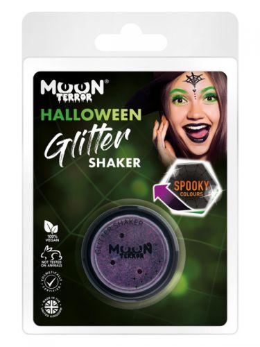 Moon Terror Halloween Glitter Shakers, Purple
