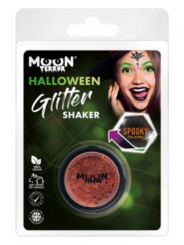 Moon Terror Halloween Glitter Shakers, Orange