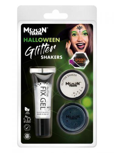 Moon Terror Halloween Glitter Shakers,